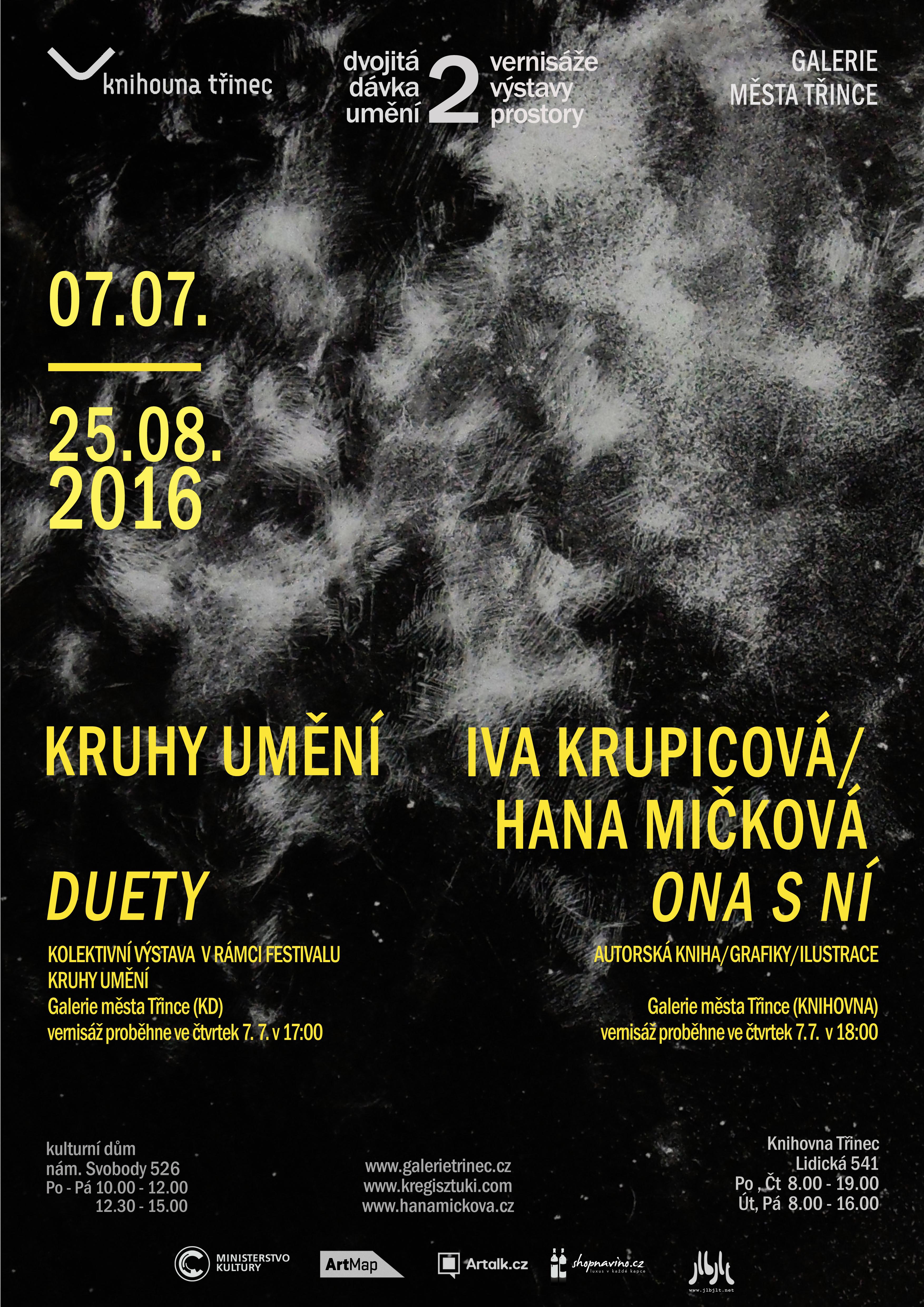 dvojitá dávka umění: Kruhy umění / Iva Krupicová a Hana Mičková